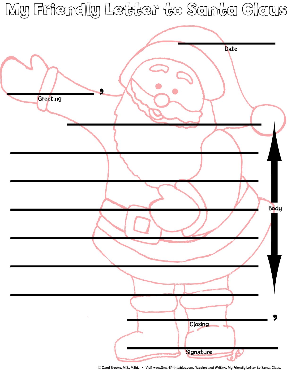 Friendly letter template for kids spiritdancerdesigns Images