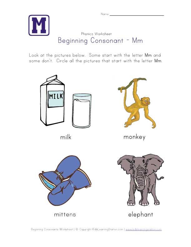 M Worksheets For Preschool – Letter M Worksheet for Preschool