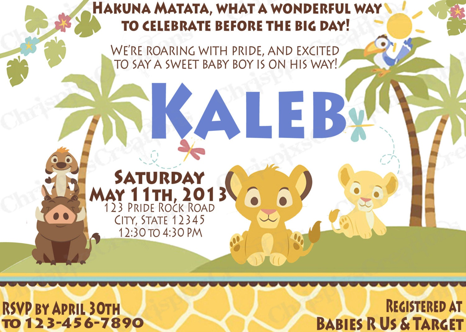 King simba baby shower invitations lion king simba baby shower invitations filmwisefo Gallery