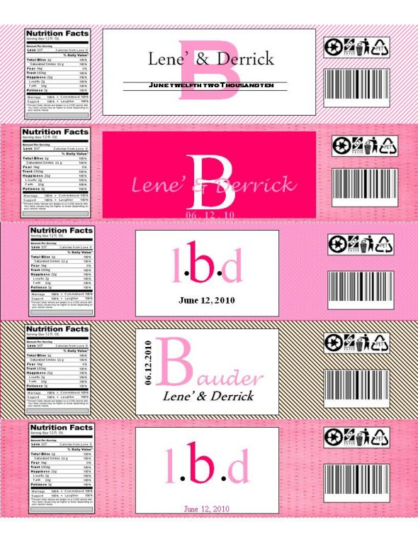 Bottle Labels Template Free - Free water bottle label template